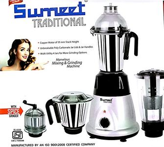 Sumeet Traditional Domestic Plus 2018 750W Mixer Grinder (4 Jars) Price in India