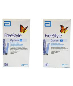 Abbott Free Style Optium H Test Strips (100 Strips, Pack of 2) Price in India