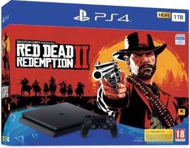 Sony PS4 Slim 1TB Gaming Console (With Red Dead II Redemption) Price in India