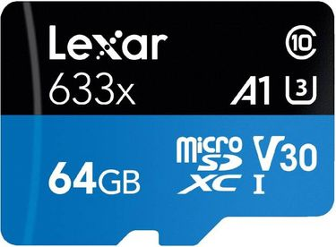 Lexar 633X 64GB Class 10 Micro SDXC Memory Card Price in India