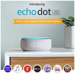 Amazon Echo Dot (3rd Gen) with Clock Bluetooth Speaker with Alexa Price in India