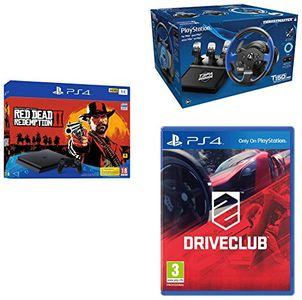 Sony PS4 Slim 1TB Console (Thrustmaster T150 Pro & Drive Club & Red Dead II Redemption) Price in India