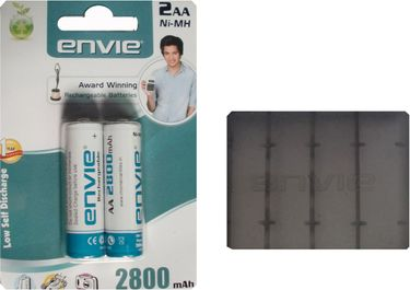 Envie 2 x AA 2800mAh Ni-Mh Rechargeable Battery Price in India