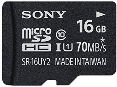 Sony SR-16UY2A 16GB Class 10 MicroSDHC Memory Card Price in India
