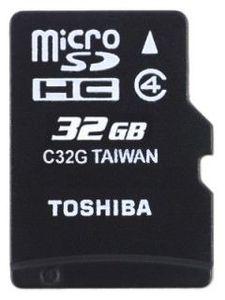 Toshiba SD-C32GJ 32GB Class 4 MicroSD Memory Card Price in India