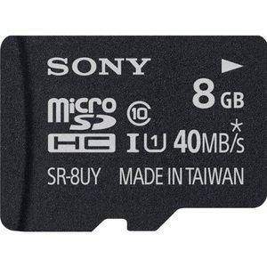 Sony SR-8UYA/T1 8GB Class 10 MicroSDHC Memory Card Price in India