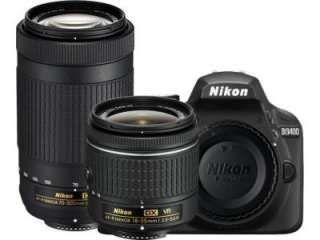 Nikon D3400 DSLR Camera (AF-P DX 18-55mm f/3.5-f/5.6G VR and AF-P DX 70-300mm f/4.5-f/6.3G ED Dual Kit Lens) Price in India