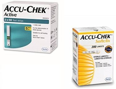 Accu-Chek Active 100 Strips Price in India
