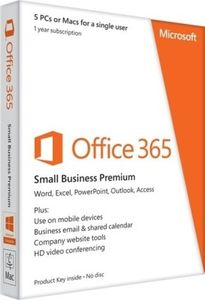Microsoft Office 365 Small Business Premium 5 PC 1 Year Price in India