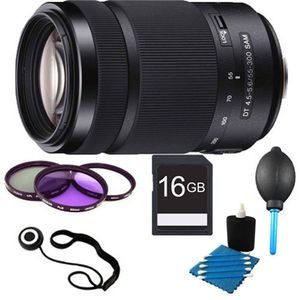 Sony DT 55-300 mm f/4.5-5.6 Telephoto Zoom Lens Price in India