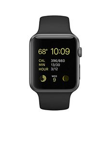 Apple Watch Sport Space Grey Aluminium Case Black Sport Band 42mm Price in India