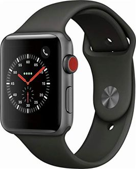 Apple Watch Series 3 Space Gray Aluminum Case with Gray Sport Band 42 mm Price in India