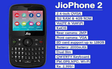 Jio Phone 2 Price in India