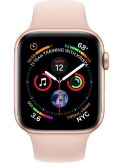 Apple Watch Series 4 GPS Silver Aluminium Case with Seashell Sport Loop(Grey Strap Regular) 40mm Price in India