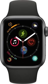 Apple Watch Series 4 GPS Space Grey Aluminium Case with Black Sport Band 40mm Price in India