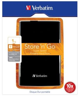 Verbatim Store N Go Super Speed 1TB USB 3.0 External Hard Disk Price in India