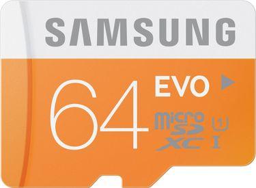 Samsung Evo 64GB MicroSDXC Class 10 (48MB/s) UHS-1 Memory Card Price in India