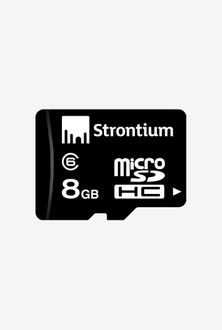 Strontium 8GB MicroSDHC Class 6 (6MB/s) Memory Card Price in India