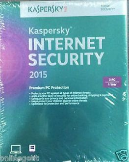 Kaspersky INTERNET SECURITY 2015 3 PC 1 Year Price in India