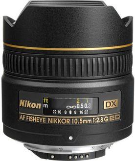 Nikon 10.5 mm f/2.8G ED Fisheye AF DX Nikkor Lens Price in India