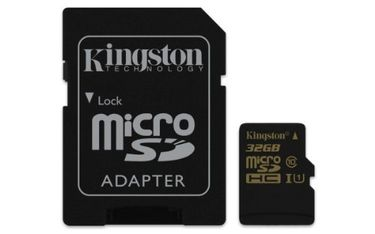 Kingston Ultra 32GB MicroSDHC Class 10 (90MB/s) UHS-1 Memory Card Price in India