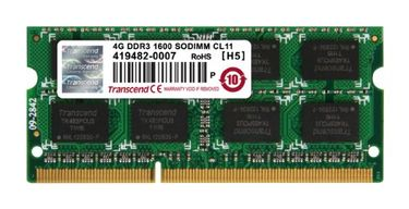 Transcend JetRam (JM1600KSN-4G) DDR3 4GB Laptop RAM Price in India