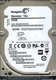 Seagate Momentus Thin 5400 (ST320LT012) 320GB Laptop Internal Hard Drive Price in India