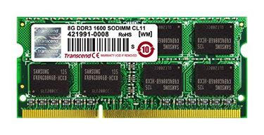 Transcend JetRam (JM1600KSH-8G) DDR3 8GB Laptop RAM Price in India