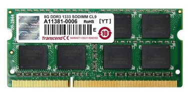 Transcend JetRam (JM1333KSH-8G) DDR3 8GB Laptop RAM Price in India