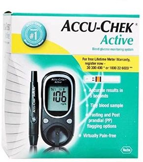Accu-Chek Active Glucose Monitor with 50 Strips Glucometer Price in India