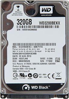 WD (WD3200BEKX) 320GB Laptop Internal Hard Disk Price in India