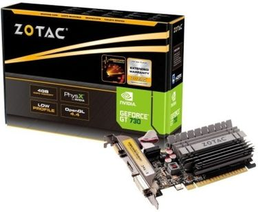 Zotac NVIDIA GeForce GT730 (ZT-71108-10L) DDR3 4GB Graphics Card Price in India