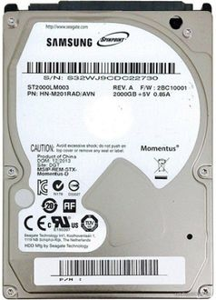 Samsung SpinPoint M9T (ST2000LM003) 2TB Laptop Internal Hard Drive Price in India