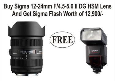Sigma 12-24mm f/4.5-5.6 II DG HSM Zoom Lens (For Canon DSLR Camera) Price in India