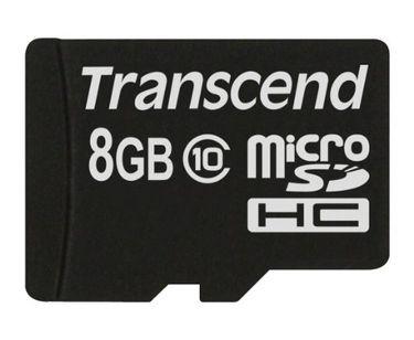 Transcend Premium 133x 8GB MicroSDHC Class 10 Memory Card Price in India