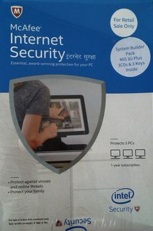 McAfee Internet Security 2015 3 PC 1 Year Price in India