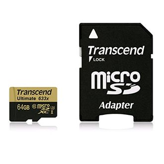 Transcend Ultimate 633x 64GB MicroSDXC Class 10 (95MB/s) UHS-1/U3 Memory Card (With Adapter) Price in India