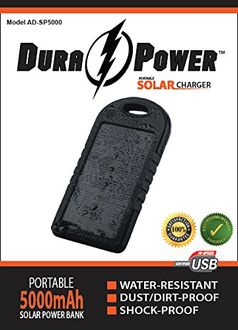 Dura Power 5000mAh Solar Charger Power Bank Price in India