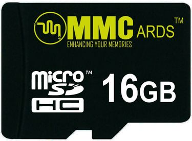 MMCards 16GB MicroSDHC Class 10 Memory Card Price in India