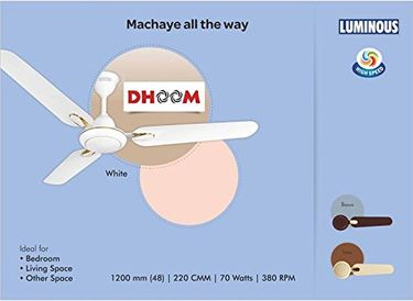 Luminous Dhoom 3 Blade (1200mm) Ceiling Fan Price in India