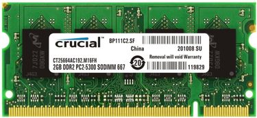 Crucial (C27201504-21) DDR2 2GB Laptop RAM Price in India