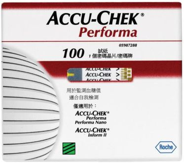 Accu-Chek Performa 100 Test Strips (Strips Only) Price in India