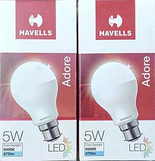 Havells Adore 5W LED Bulb (White, Pack of 2) Price in India