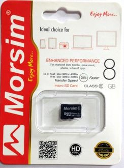 Morsim 8GB MicroSD Class 6 (48MB/s) Memory Card Price in India