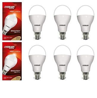 Eveready 14W LED Bulbs (White, Pack of 6) Price in India