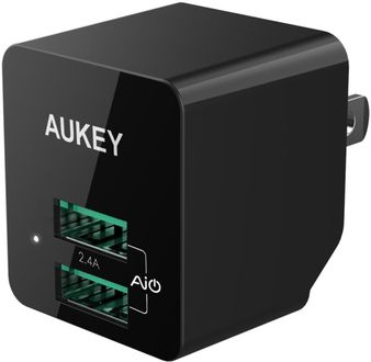 Aukey PA-U32 (12W / 2.4A) Travel USB Wall Charger Price in India