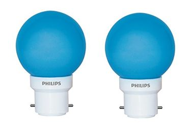 Philips Deco Mini 0.5W LED Bulbs (Blue, Pack of 2) Price in India