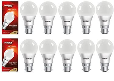 Eveready 5W LED Bulbs (Cool Day Light, Pack of 10) Price in India