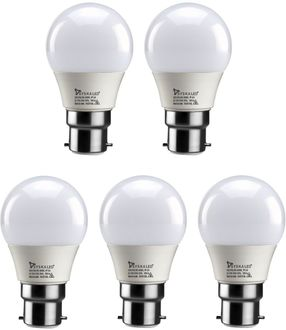 Syska 3W LED Bulb (White, Pack of 5) Price in India
