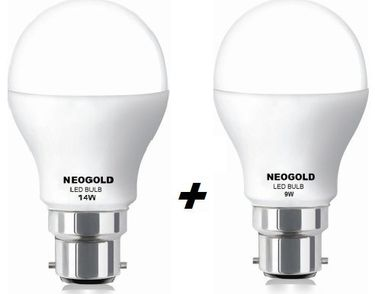 Neogold Elite 14W,9W LED Bulbs Combo (Cool White) Price in India